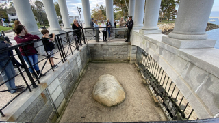 Plymouth Rock and the guide